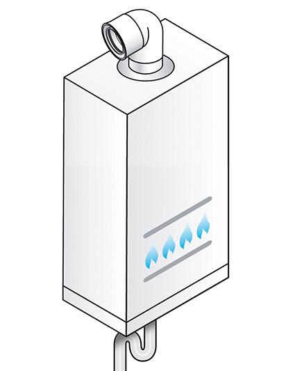caldaia condensazione coax